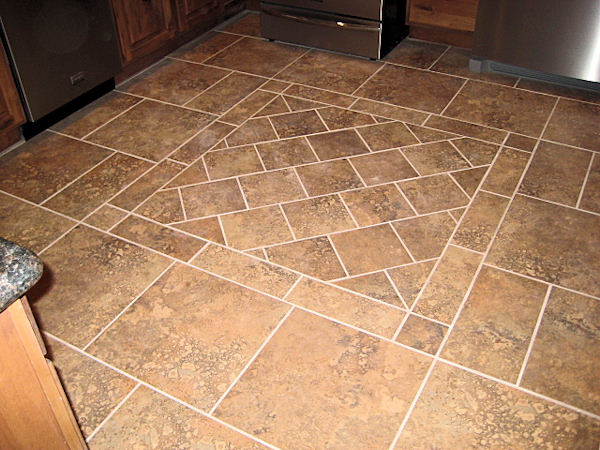 Seal systems tile grout stone brick for Tile patterns for kitchen floor
